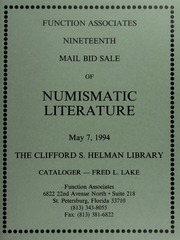 Nineteen Mail Bid Sale of Numismatic Literature