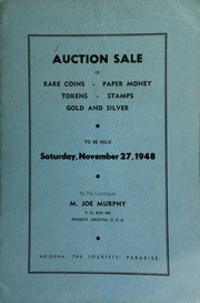 Nineteenth auction sale : catalogue of rare coins, tokens, paper money, miscellaneous gold and silver ... [11/27/1948]