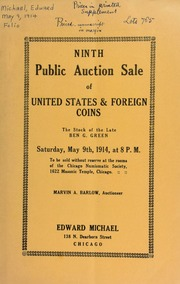 Ninth public auction sale of United States & foreign coins. [05/09/1914]