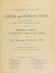 No. 2. Catalogue of a sale of Greek and Roman coins from various collections in England, France, Germany, Italy, and America ... [07/15/1929]