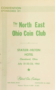 The north east Ohio coin club. [07/21-23/1961]