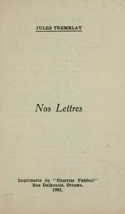 Nos lettres