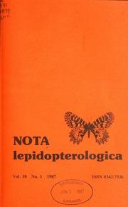 Vol v. 10 1987: Nota lepidopterologica