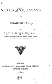 johnson on shakespeare essays and notes johnson samuel  notes and essays on shakespeare