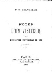 Notes d-un visiteur sur l-Exposition universelle de 1878