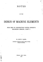 OF DESIGN MACHINE ELEMENTS