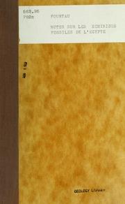 Notes sur les Echinides fossiles de l-Egypte