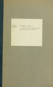 Notes sur les sources de quelques drames indiens