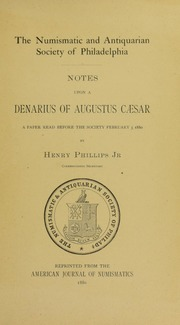 Notes Upon a Denarius of Augustus Ceasar
