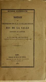 Notice des dessins de la collection His de la Salle : exposés au Louvre