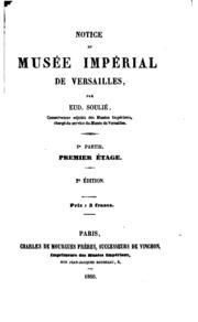 Vol 2: Notice du Musée Impérial de Versailles