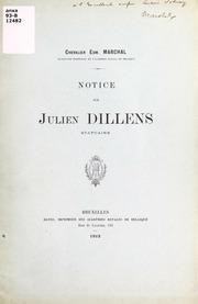 Notice sur Julien Dillens, statuaire