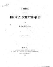 Notice sur le travaux scientifiques
