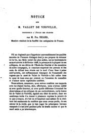 Notice sur M. Vallet de Viriville: Cette notice a été lue a ̀la Societé impériale des ...