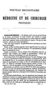 Nouveau dictionnaire de médecine et de chirurgie pratiques ... v. 40, 1886