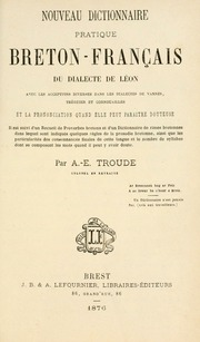 Nouveau dictionnaire pratique breton fran ais du dialecte for Elle pronunciation