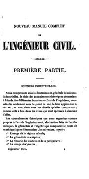 Vol 2: Nouveau manuel complet de l-ingénieur civil, ou, traité sur l-application ...