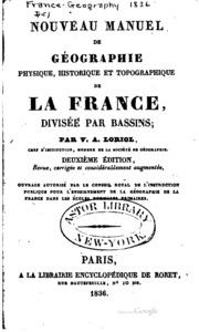 Nouveau manuel de géographie physique, historique et topographique de la ...