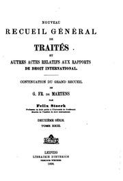 Vol 23: Nouveau recueil général de traités et autres actes relatifs aux rapports de droit international