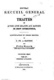 Vol 15: Nouveau recueil général de traités et autres actes relatifs aux rapports de droit international
