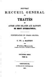 Vol 11: Nouveau recueil général de traités et autres actes relatifs aux rapports de droit international