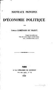 Nouveaux principes d-économie politique