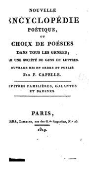 Vol 8: Nouvelle encyclopédie poétique: ou, Choix de poésies dans tous les genres