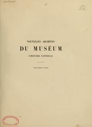 Vol ser. 3, t. 9 1897: Nouvelles archives du Muséum d-histoire naturelle