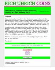 November 2012 - Black Friday, Small Business Saturday, Sunday, & Cyber Monday SALE