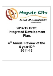 GT481 Mogale City Draft IDP 2014 - 15