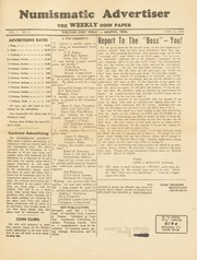 Numismatic Advertiser: The Weekly Coin Paper