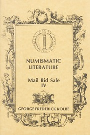 Numismatic Literature: Mail Bid Sale IV