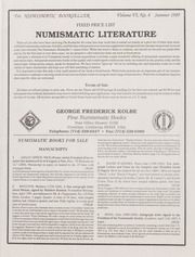 The Numismatic Bookseller: Vol. 6 No. 4, Summer 1989