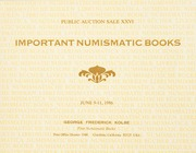 Important Numismatic Books