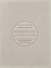 Numismatic Literature: Mail Bid Sale Forty-One