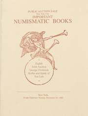 Important Numismatic Books: Eighth Joint Auction between George Fredrick Kolbe and Spink & Son Ltd.