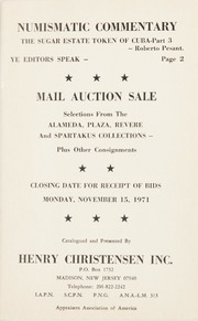 Numismatic Commentary Plus Mail Auction Sale