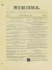 Numisma, Vol. 1, No. 5