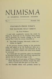Numisma, no. 3 [1961]