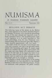 Numisma, nos. 11-12 [1968]