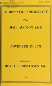 Numismatic commentary : plus mail auction sale ... [11/15/1971]