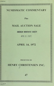 Numismatic commentary : plus mail auction sale ... [04/14/1972]