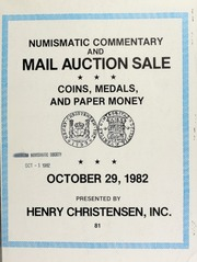 Numismatic commentary and mail auction sale : coins, medals and paper money. [10/29/1982]