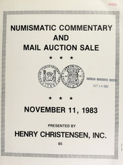 Numismatic commentary and mail auction sale. [11/11/1983]
