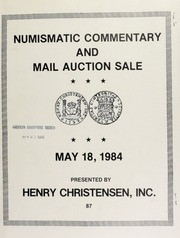 Numismatic commentary and mail auction sale : featuring the Joge A. Lines collection of Costa Rica orders and decorations ... [05/18/1984]