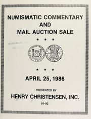 Numismatic commentary and mail auction sale ... [04/25/1986]