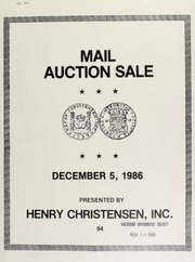 Numismatic commentary and mail auction sale : featuring the Norberto Muenzer collection of Bolivia ... [12/05/1986]