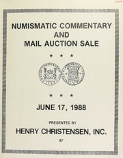 Numismatic commentary and mail auction sale : coins and banknotes. [06/17/1988]