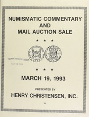 Numismatic commentary and mail auction sale : coins and banknotes. [03/19/1993]