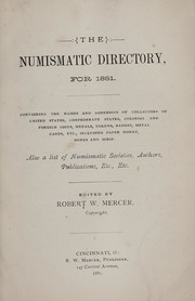 The Numismatic Directory for 1881